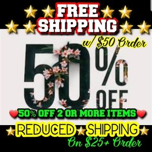 💖💥50% OFF 2+ 💎FREE💎or💥REDUCED SHIPPING💥💖